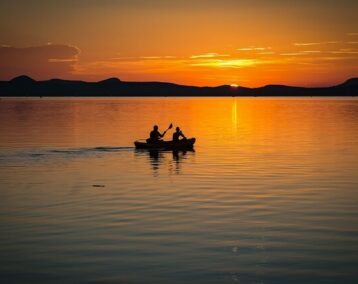 Summer Sunset On The Water
