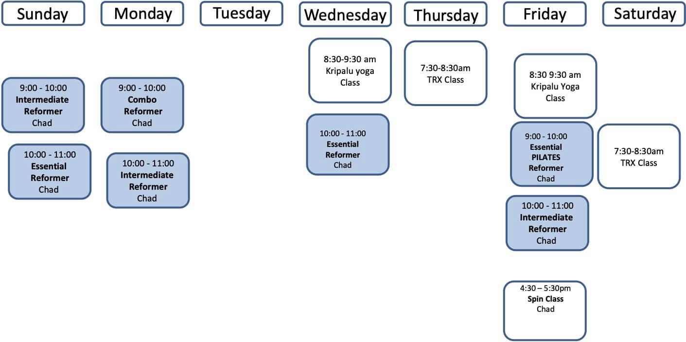 June Fitness Schedule 2021